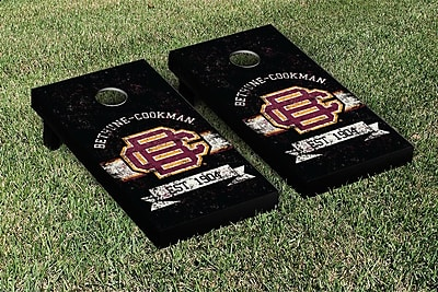 Victory Tailgate NCAA Vintage Version Banner Cornhole Game Set; Bethune Cookman Wildcats