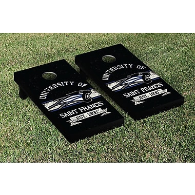 Victory Tailgate NCAA Vintage Version Banner Cornhole Game Set; Saint Francis Cougars
