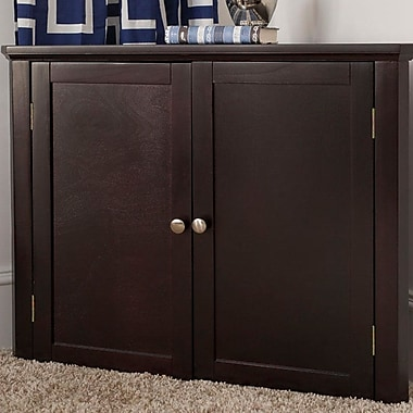 Craft Kids Furniture 2 Door Corner Cabinet; Espresso