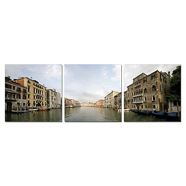 3 Panel Photo Venice by Day 3 Piece Photographic Print Set