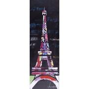 LaKasaLLC City Scenic Modern, Architecture Eiffel Tower Paris Painting on Canvas