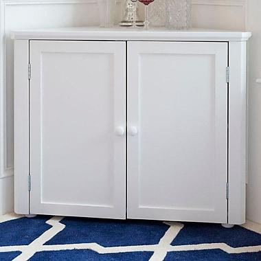 Craft Kids Furniture 2 Door Corner Cabinet; White
