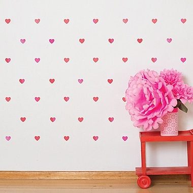 Petit Collage Hearts Wall Decal