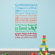 Pop Decors Playroom Rules Wall Decal