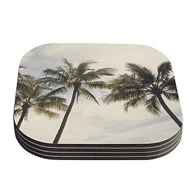 KESS InHouse Boho Palms Coastal Trees Coaster (Set of 4)