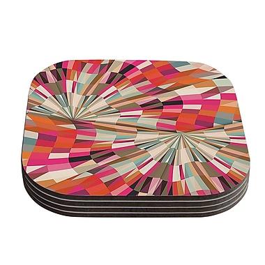 KESS InHouse Convoke Geometric Coaster (Set of 4)