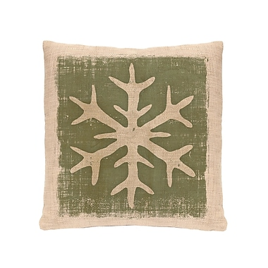 Heritage Lace Rustic Snowflake Throw Pillow