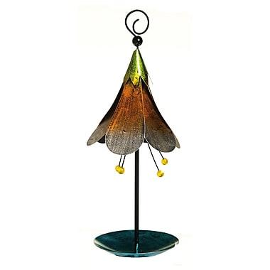 Evergreen Enterprises, Inc Eclectic Flower Topper Decorative Tray Bird Feeder