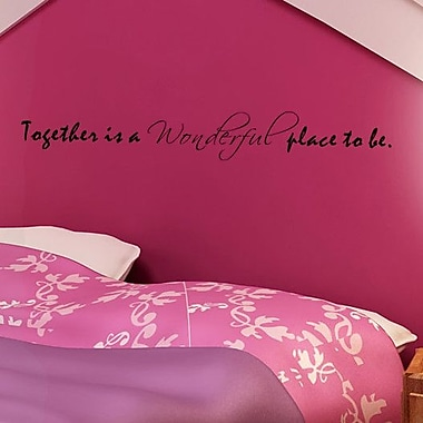 Pop Decors Together is a Wonderful place to Be Wall Decal