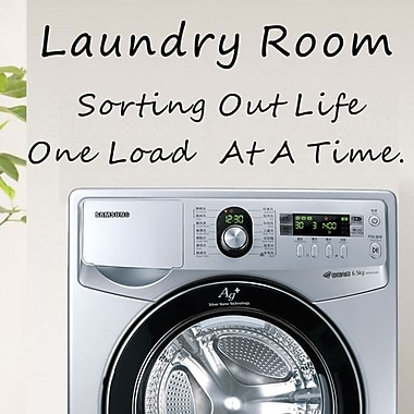 Pop Decors Laundry Room Wall Decal