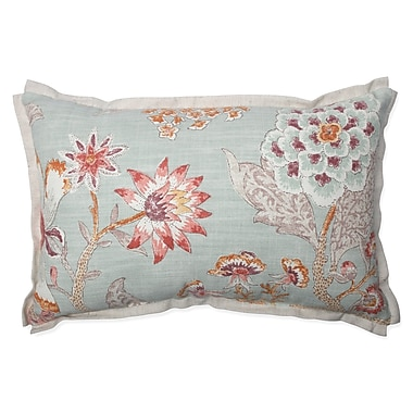 Pillow Perfect Room w/ a View Cerulean cotton Lumbar Pillow