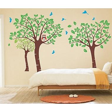 Pop Decors Tree Garden w/ Birds Wall Decal