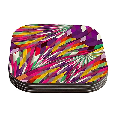KESS InHouse Sweet Geometric Coaster (Set of 4)