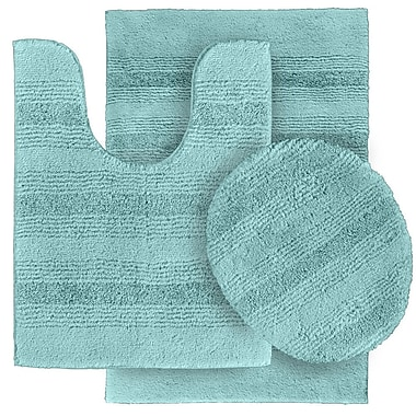 Wildon Home Deyanira 3 Piece Green Bath Rug Set (Set of 3); Sea Foam