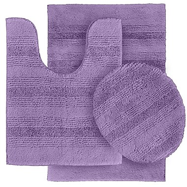 Wildon Home Deyanira 3 Piece Green Bath Rug Set (Set of 3); Purple