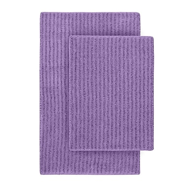 Wildon Home Devinne 2 Piece Red Bath Rug Set; Purple