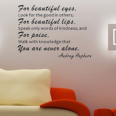 Pop Decors For Beautiful Eyes, Look for the Good in Others Wall Decal