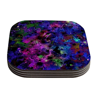 KESS InHouse Color Me Floral Celestial Coaster (Set of 4)