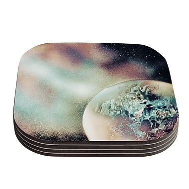 KESS InHouse Space Dust Planet Coaster (Set of 4)
