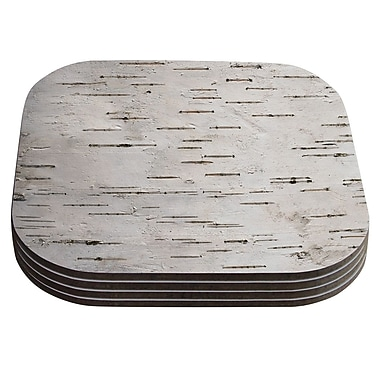 KESS InHouse Painted Tree Rustic Coaster (Set of 4)