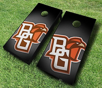 AJJCornhole NCAA 10 Piece Slanted Cornhole Set; Bowling Green Falcons