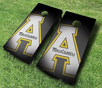 AJJCornhole NCAA 10 Piece Slanted Cornhole Set; Appalachian State Mountaineers