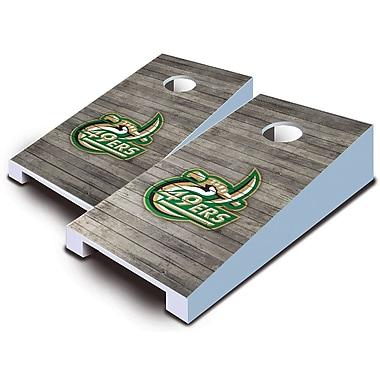 AJJCornhole NCAA 10 Piece Distressed Tabletop Cornhole Set; UNC Charlotte 49ers