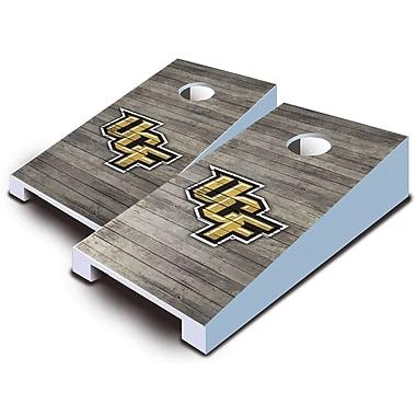 AJJCornhole NCAA 10 Piece Distressed Tabletop Cornhole Set; Central Florida Knights