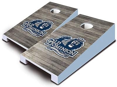 AJJCornhole NCAA 10 Piece Distressed Tabletop Cornhole Set; Old Dominion Monarchs