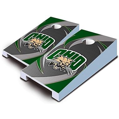 AJJCornhole 10 Piece Swoosh Tabletop Cornhole Set; Ohio Bobcats