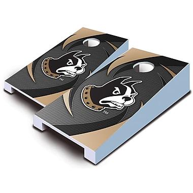 AJJCornhole 10 Piece Swoosh Tabletop Cornhole Set; Wofford Terriers