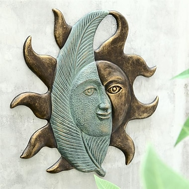 SPI Home Leaf and Sunface Wall Decor