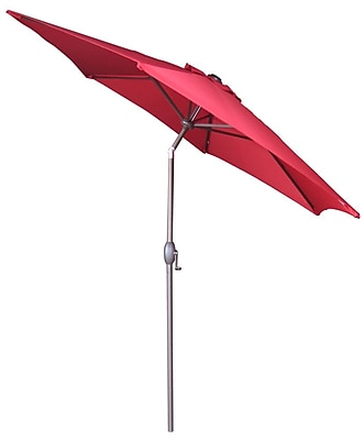 Abba Patio 9' Market Umbrella; Red WYF078278601186