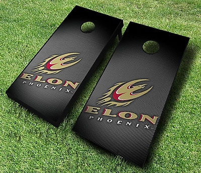AJJCornhole NCAA 10 Piece Slanted Cornhole Set; Elon Phoenix