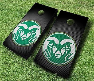 AJJCornhole NCAA 10 Piece Slanted Cornhole Set; Colorado State Rams
