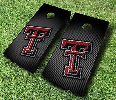 AJJCornhole NCAA 10 Piece Slanted Cornhole Set; Texas Tech Red Raiders