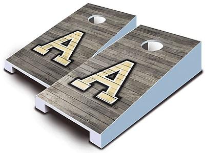 AJJCornhole NCAA 10 Piece Distressed Tabletop Cornhole Set; Army Black Knights
