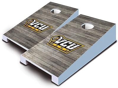 AJJCornhole NCAA 10 Piece Distressed Tabletop Cornhole Set; VCU Rams