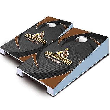 AJJCornhole 10 Piece Swoosh Tabletop Cornhole Set; Valparaiso Crusaders