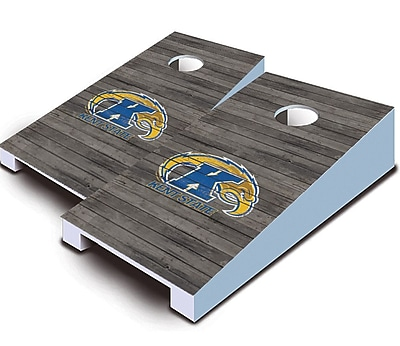 AJJCornhole NCAA 10 Piece Distressed Tabletop Cornhole Set; Kent State Golden Flashes
