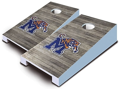 AJJCornhole NCAA 10 Piece Distressed Tabletop Cornhole Set; Memphis Tigers