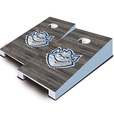 AJJCornhole NCAA 10 Piece Distressed Tabletop Cornhole Set; St. Louis Billikens