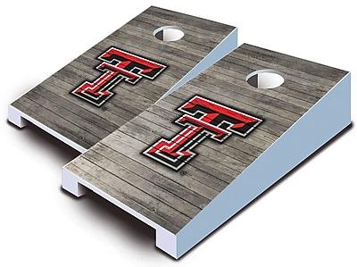 AJJCornhole NCAA 10 Piece Distressed Tabletop Cornhole Set; Texas Tech Red Raiders
