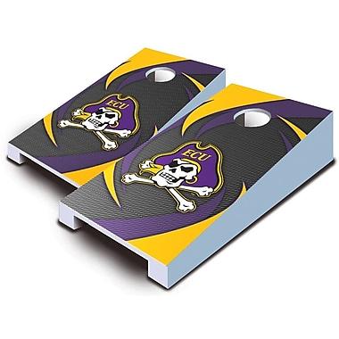 AJJCornhole 10 Piece Swoosh Tabletop Cornhole Set; East Carolina Pirates