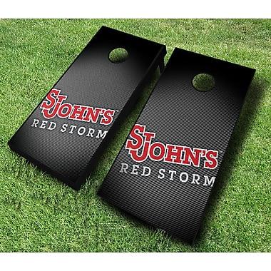 AJJCornhole NCAA 10 Piece Slanted Cornhole Set; St John's Red Storm