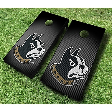 AJJCornhole NCAA 10 Piece Slanted Cornhole Set; Wofford Terriers