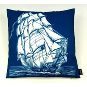 lava Ship on White Indoor/Outdoor Throw Pillow