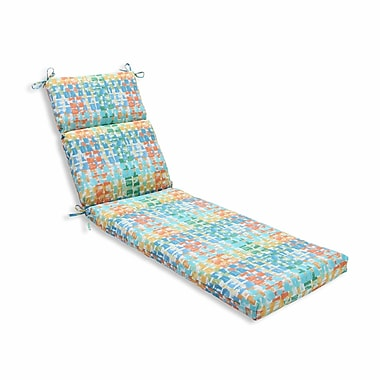Pillow Perfect Quibble Sunsplash Outdoor Chaise Lounge Cushion