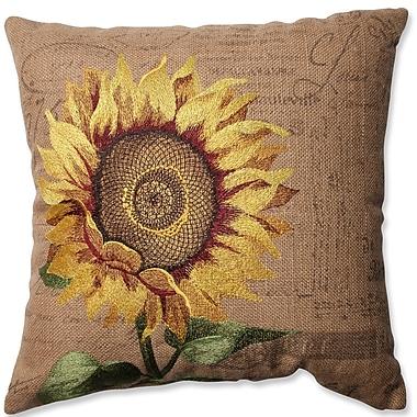 Pillow Perfect Sunflower Jute Throw Pillow