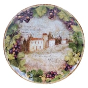 Certified International Sanctuary Wine Round Platter